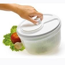 Secador Centrífuga Lavadora Saladas Verduras Jarra Plástica
