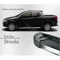 Estribo Plataforma - Fiat Strada (todos) - Preto Fosco