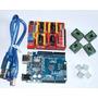 Kit Arduino Uno R3 (cabo Usb) + Cnc Shield V3 Completa