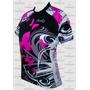 Camisa Penks Ciclismo Feminina Borboleta Rosa