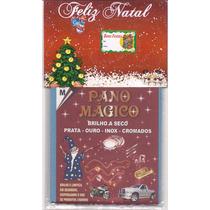 Kit Natal Flanela Pano Mágico 2 Flanelas M Limpa Ouro Prata