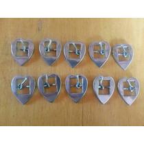 10 Fivelas Inox Coração Pp Larg 3cm-comp 3.9cm-passada 1.6cm