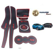 Ford New Fiesta Porta Trecos Tapete Protetor Kit Acessorios
