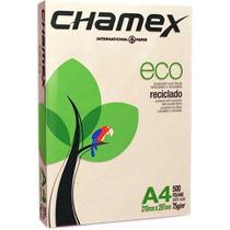 Papel Folha A4 75g Reciclado Chamex Resma De 500 Folhas!!