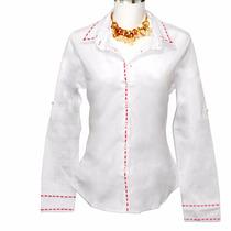 Camisa Feminina Pespontada Dudalinda. 10x S/juros Cartão