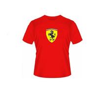 Camiseta Escudo Da Ferrari Infantile Juvenil 100%algodão