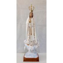 Imagem De Nossa Senhora De Fátima Em Gesso - 1m05cm