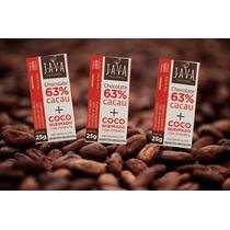 Kit 3 Chocolate 63%cacau Coco Pimenta Semglúten/lactose Java