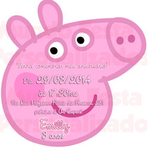 40 Convite Infantil Corte Especial Peppa Pig Aniversário