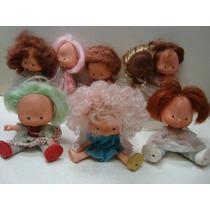 Lote Com 8 Antigas Bonecas Moranguinho Da Estrela De 1979