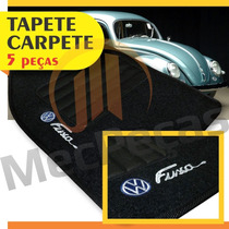 Tapete Carpete Bordado Personalizado Fusca + Para-sol