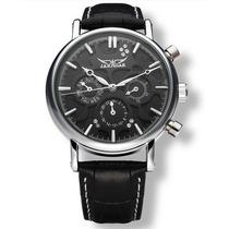 Relógio De Luxo Jaragar Cronos Funcionais Black Calendário