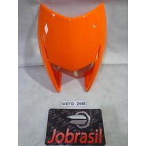 Moto 2448 Carenagem Farol Honda Nxr Bros 150 Laranja Claro 2