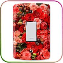 Flores, Floral - Adesivos Para Espelho De Tomada - Decoração