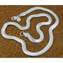 Corrente Em Prata 60cm Longa Cobra 23,3gr Masculina - J1826