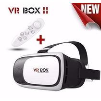 Oculos 3d Rift Realidade Virtual Cardboard Vr Box + Controle