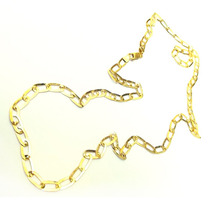 Corrente De Ouro 18k 45cm Larga Achatada Maglie Ovale