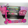 Patinete Monster High Alumínio E Regulável Patinetes C/luzes