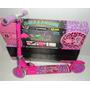 Patinete Monster High Alumínio E Regulável Patinetes C/luzes