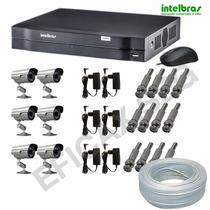 Kit Cftv Dvr Intelbras 8 Ch + 6 Câmeras Infravermelho Cod222