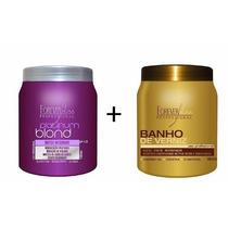 Forever Liss Platinum Blond Botox 1kg + Banho De Verniz 1kg