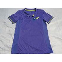 Camisa Polo Tênis Feminina Roxa Asics Gg Promoção Imperdível