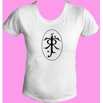 Camiseta Babylook Senhor Sr Anel Aneis Hobbit 02