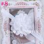 Tiara Fita Faixa Bebê Chiffon Branca Batizado Flor Importado