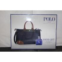 Polo Blue Masculino Eau De Toilette 125ml +travel Bag