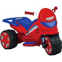 Moto Elétrica Infantil Turbo Power Azul/vermelho 20w - Brink