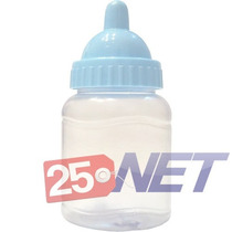 400 Mini Mamadeira 50ml Lembrancinhas C/ Bico Azul Bebê