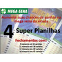 Mega Sena - 4 Super Planilhas Em Excel - Loteria Da Sorte