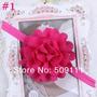 Tiara Fita Faixa Bebês De Chiffon Rosa Pink Flor Importado