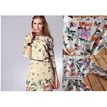Vestido Renda Borboleta Inspired Farm Gg Pronta Entrega
