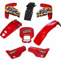 Kit De Carenagem Honda Xlr 125 Vermelha + Adesivo 8 Peças