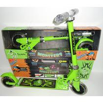 Patinete Monster High Em Alumínio Regulável Patinetes C/luz
