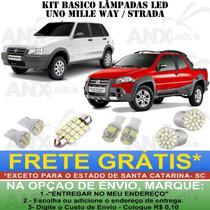 Kit Lampadas Led Fiat Uno Mille Way Fire Palio Strada