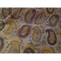 Tecido Textil Em Crepe Estampado Rose Amarelo