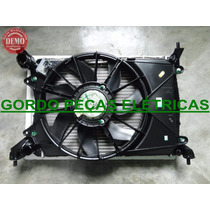 Radiador+ Condensador+ Motor Da Ventoinha Palio 1.6 16v 2012