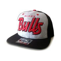 Boné Black Bulls Aba Reta Snapback Excelente Oferta Barato