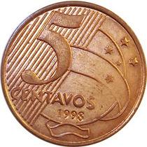 Moedas Série Real 1998 Data Rara 5 10 25 50 Centavos Mbc