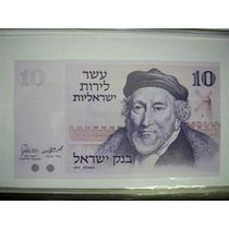 Rb1542 2 Cédulas Israel 10 Lirot Fe E 10 Lirot 1958 Soberba