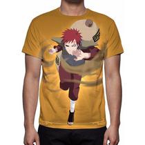 Camisa, Camiseta Anime Naruto Gaara Mod 02 - Estampa Total