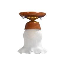 Luminária Plafon Madeira Lustre Pendente Teto