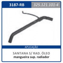 Mangueira Superior Radiador Com Rabicho E Santana:1984a2007