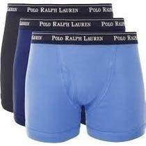 Kit Com 3 Cuecas Broxer Azul Da Polo Ralph Lauren Original