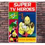 Poster Exclusivo Super Tv Heroes Hanna Barbera Retro 30x42cm