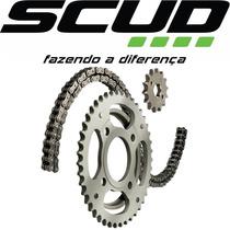 Kit Relação Scud Xre300 S/ Retentor Moto Motocicleta