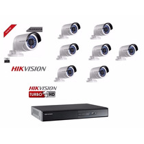 Kit 8 Câmeras Turbo Hd Hikvision 720p 2,8mm +1 Dvr 16 Canais