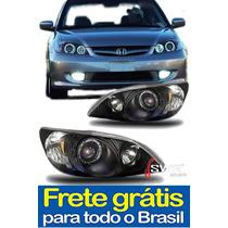 Farol Angel Eyes Led Civic 2004 À 2005 (par)